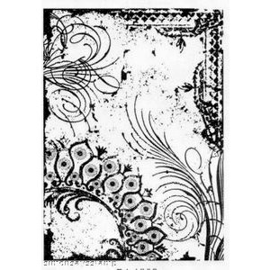 Stampers Anonymous - Tim Holtz - ATC - Cling Mounted Rubber Stamps - Flourish Collage