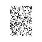 Stampers Anonymous - Tim Holtz - ATC - Cling Mounted Rubber Stamps - Mini Swirls