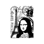 Stampers Anonymous - Tim Holtz - ATC - Cling Mounted Rubber Stamps - Paris Collage