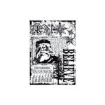 Stampers Anonymous - Tim Holtz - Christmas - ATC - Cling Mounted Rubber Stamps - Christmas Miracle