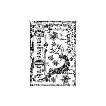 Stampers Anonymous - Tim Holtz - Christmas - ATC - Cling Mounted Rubber Stamps - Reindeer Games