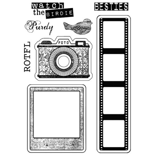 Stamper's Anonymous - Donna Salazar - Cling Mounted Rubber Stamp Set - Foto