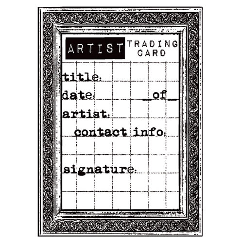Stampers Anonymous - Donna Salazar - Cling Mounted Rubber Stamp Set - Grid Artist Trading Cards