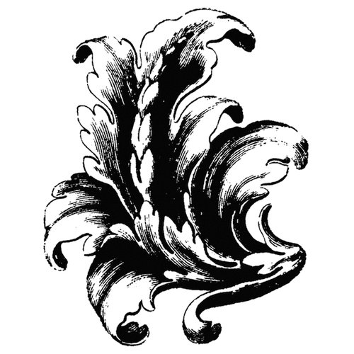 Stamper's Anonymous - Donna Salazar - Cling Mounted Rubber Stamp Set - Acanthus