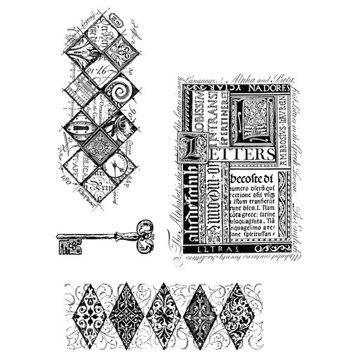 Stampers Anonymous - Tim Holtz - Cling Mounted Rubber Stamp Set - Classics 3