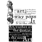 Stampers Anonymous - Tim Holtz - Cling Mounted Rubber Stamp Set - Classics 4