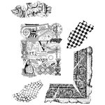 Stampers Anonymous - Cling Mounted Rubber Stamp Set - Classics 7