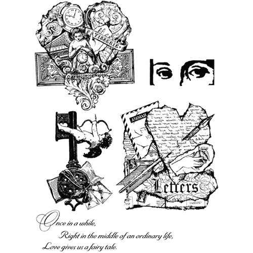 Stampers Anonymous - Tim Holtz - Cling Mounted Rubber Stamp Set - Classics 8