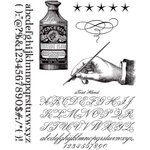 Stampers Anonymous - Tim Holtz - Cling Mounted Rubber Stamp Set - Typography
