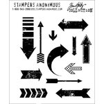 Stampers Anonymous - Tim Holtz - Cling Mounted Rubber Stamp Set - Here and There
