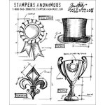 Stampers Anonymous - Tim Holtz - Cling Mounted Rubber Stamp Set - High Society Blueprints