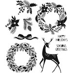 Stampers Anonymous - Tim Holtz - Cling Mounted Rubber Stamp Set - Styled Woodlands