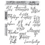 Stampers Anonymous - Tim Holtz - Cling Mounted Rubber Stamp Set - Mini Handwritten Holidays