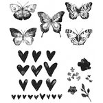 Stampers Anonymous - Tim Holtz - Cling Mounted Rubber Stamp Set - Watercolor