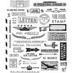 Stampers Anonymous - Tim Holtz - Cling Mounted Rubber Stamp Set - Correspondence