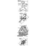 Stampers Anonymous - Tim Holtz - Cling Mounted Rubber Stamp Set - Mini Blueprint Strip - Christmas3