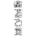 Stampers Anonymous - Tim Holtz - Cling Mounted Rubber Stamp Set - Mini Blueprint Strip - Childhood