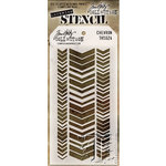 Stampers Anonymous - Tim Holtz - Layering Stencil - Chevron