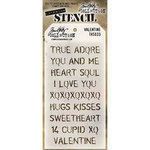 Stampers Anonymous - Tim Holtz - Layering Stencil - Valentine