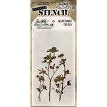 Stampers Anonymous - Tim Holtz - Layering Stencil - Wildflower