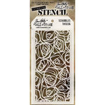 Stampers Anonymous - Tim Holtz - Layering Stencil - Scribbles