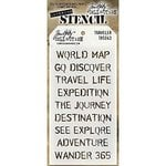 Stampers Anonymous - Tim Holtz - Layering Stencil - Traveler