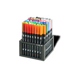 Tombow - Dual Brush Pen - 96 Color Set with Desk Stand