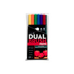 Tombow - Dual Brush Pen - 6 Color Set - Primary