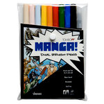 Tombow - Dual Brush Pen - 10 Color Set - Manga Shonen