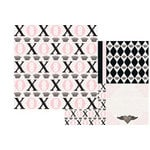 Teresa Collins - Bella Girl Collection - 12x12 Double Sided Paper - XOXO, CLEARANCE