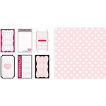 Teresa Collins - Crush Collection - Valentines - 12 x 12 Double Sided Paper - Sweetheart Tags, CLEARANCE