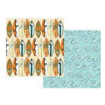 Teresa Collins - Boardwalk Collection - 12x12 Double Sided Paper - Surf's Up