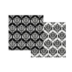 Teresa Collins - Damask Collection - 12x12 Double Sided Paper - Damask Stationery
