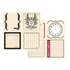 Teresa Collins - Journal-It Collection - 12x12 Double Sided Paper - Journal Notes