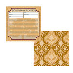 Teresa Collins - Family Matters Collection -  8 x 8 Double Sided Paper - It's All About Family, CLEARANCE