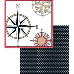 Teresa Collins - Travelogue - 12x12 Double Sided Paper - Compass