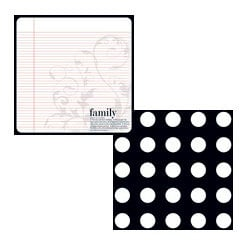 Teresa Collins - Family Matters Collection - 8 x 8 Double Sided Paper - Family Defined