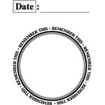 Teresa Collins - Cling Mounted Rubber Stamps - Date, CLEARANCE