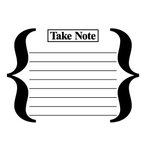 Teresa Collins - Cling Mounted Rubber Stamps - Take Note, CLEARANCE
