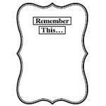 Teresa Collins - Cling Mounted Rubber Stamps - Remember This, CLEARANCE