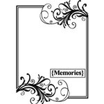 Teresa Collins - Cling Mounted Rubber Stamps - Memories