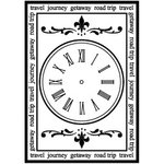 Teresa Collins - Cling Mounted Rubber Stamps - Clock, CLEARANCE