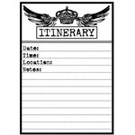 Teresa Collins - Cling Mounted Rubber Stamps - Itinerary, CLEARANCE