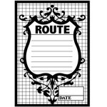 Teresa Collins - Cling Mounted Rubber Stamps - Route, CLEARANCE