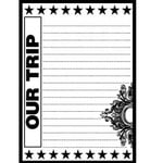 Teresa Collins - Cling Mounted Rubber Stamps - Road Trip, CLEARANCE