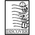 Teresa Collins - Cling Mounted Rubber Stamps - Discover, CLEARANCE