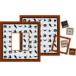 Bind It All - Teresa Collins - 2 Faux Wood Covers with Windows - Halloween, CLEARANCE