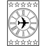 Teresa Collins - Cling Mounted Rubber Stamps - Plane, CLEARANCE