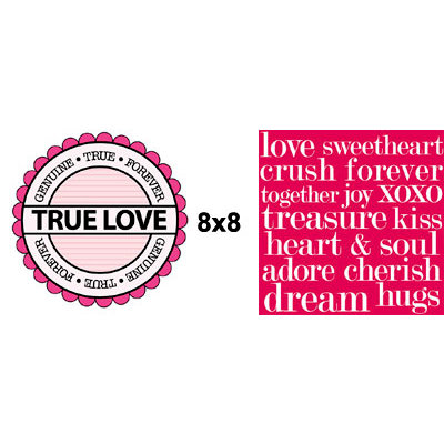 Teresa Collins - Crush Collection - Valentines - 8 x 8 Double Sided Paper - True Love, CLEARANCE