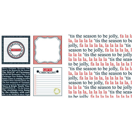 Teresa Collins - Tis the Season Christmas Collection - 12 x 12 Double Sided Paper - Checklist, CLEARANCE
